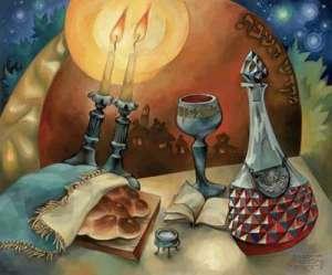 Das Bild ist von der Rose of Sharon website - 'Kiddush' by Kotovsky